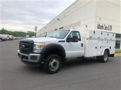 2013 FORD SUPER DUTY F-450 DRW DUALLY UTILITY TRUCK