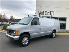 2005 FORD ECONOLINE CARGO VAN E350 SUPER DUTY EXTENDED COMMERCIAL