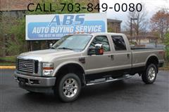 2008 FORD SUPER DUTY F-350 SRW 6.7L Lariat Crew Cab 4x4 Long Bed