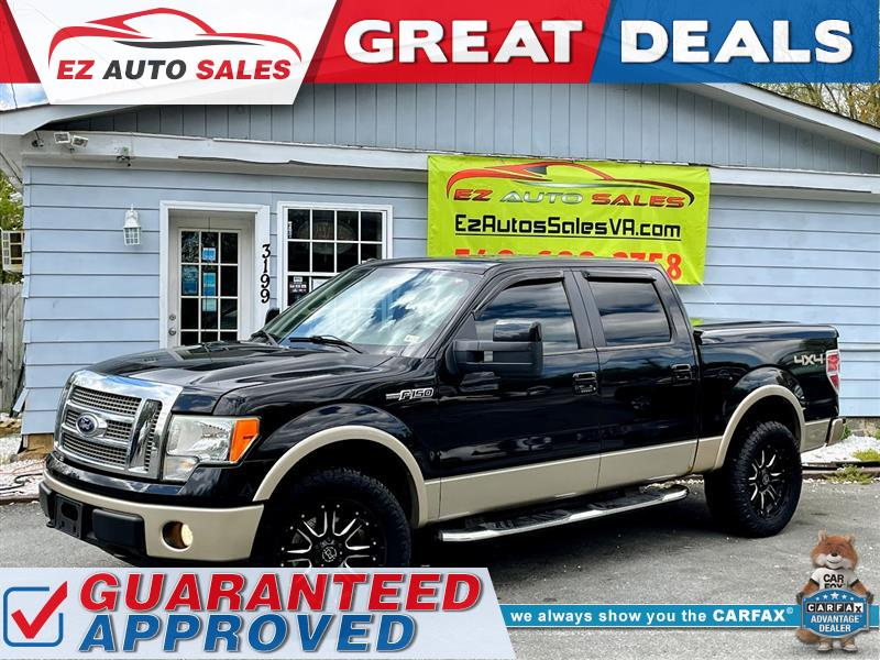 2010 FORD F-150 LARIAT 4WD WITH NAVIGATION AND SUNROOF