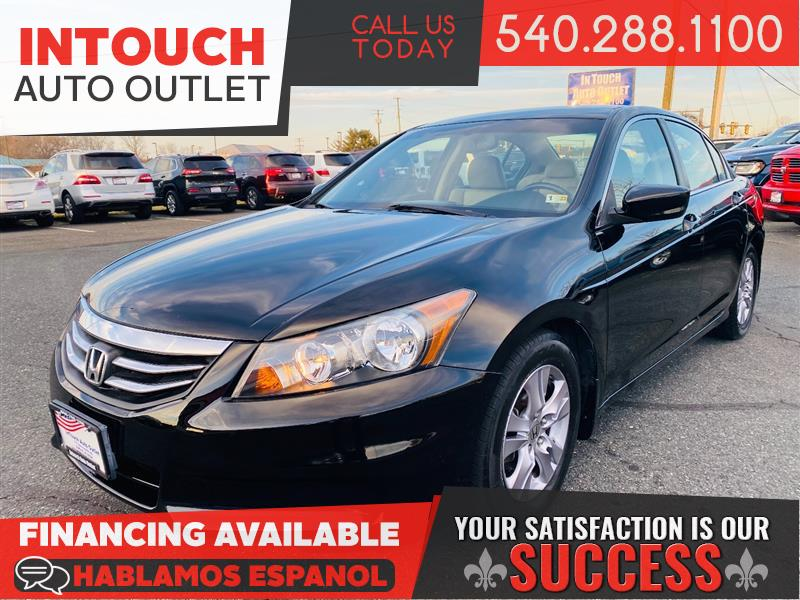 2012 HONDA ACCORD SDN SE WITH LEATHER SEATING AND SUNROOF