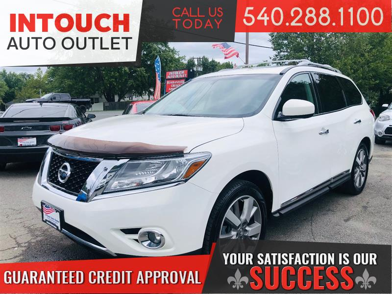 2013 NISSAN PATHFINDER PLATINUM 4WD WITH FAMILY ENTERTAINMENT PACKAGE