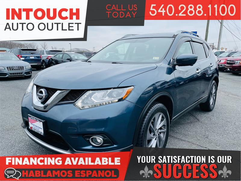 2016 NISSAN ROGUE SL AWD WITH PREMIUM PACKAGE NAV MOONROOF BSM
