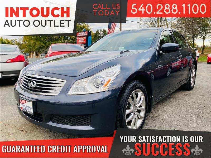 2009 INFINITI G37 SEDAN AWD WITH NAVIGATION SUNROOF
