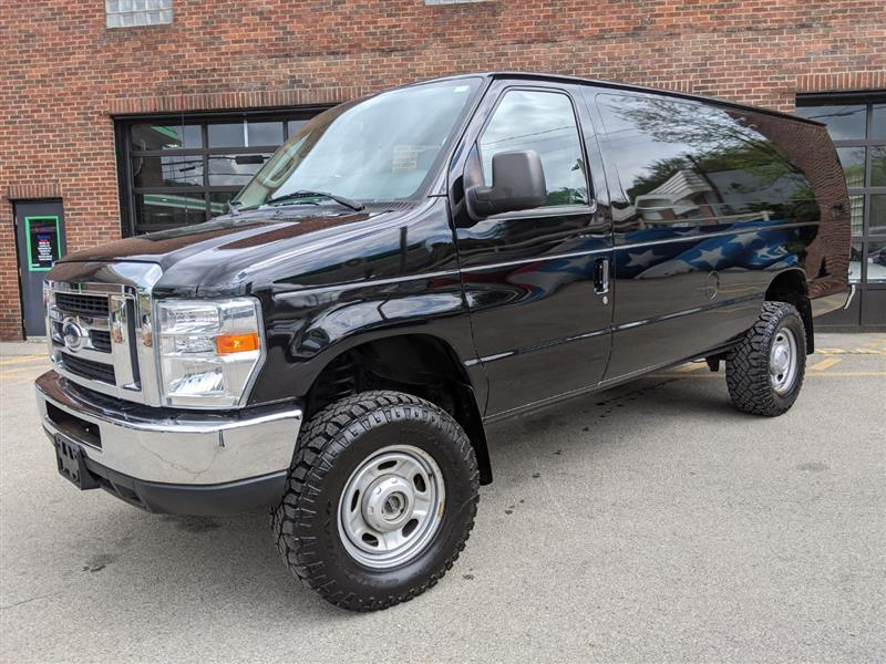 2013 FORD E250 Extended Cargo Quigley 4x4 Conversion